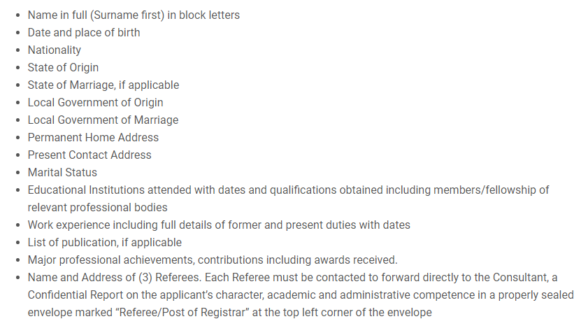 Application Details for Teaching Jobs in Imo State